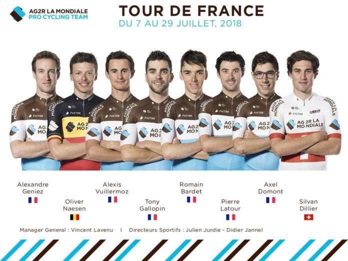 Tour de France 2018 compo AG2R La Mondiale
