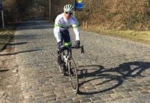 Arnaud Gérard a chuté sur les Boucles de la Mayenne