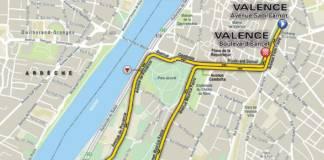 Critérium du Dauphiné parcours prologue de Valence