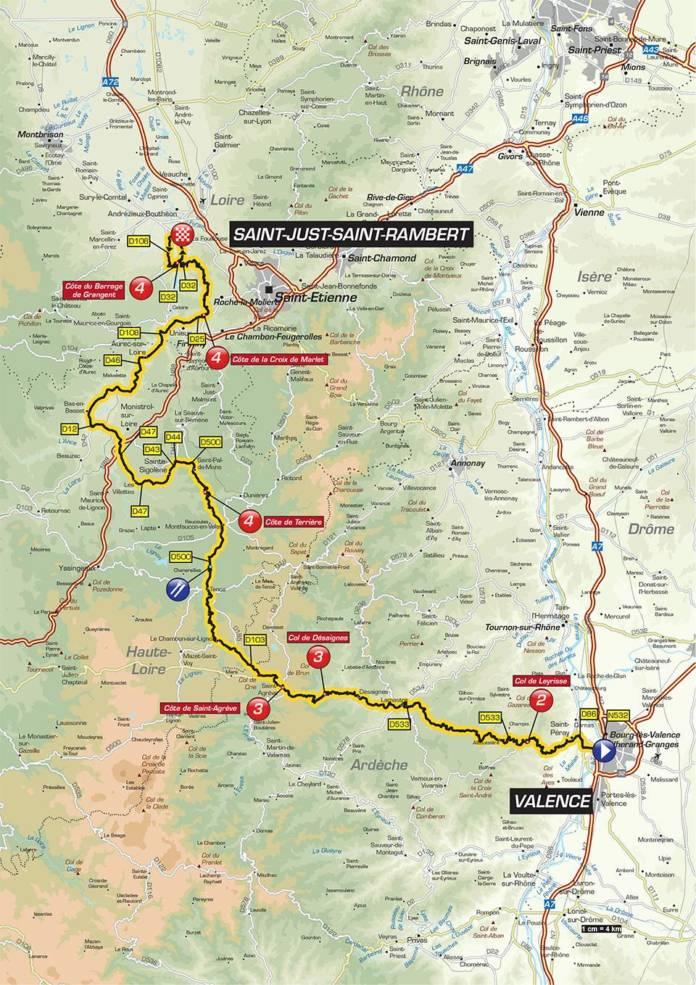 Critérium du Dauphiné parcours étape 1