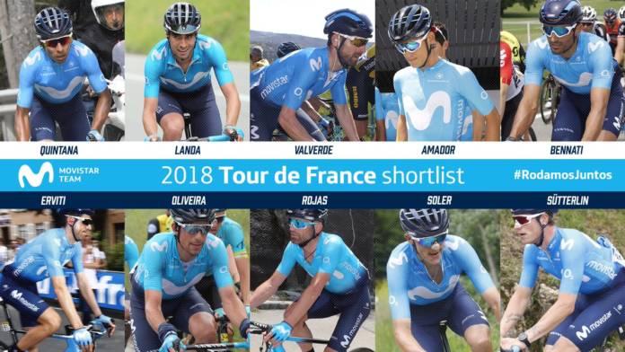 Tour de France 2018 présélection Movistar