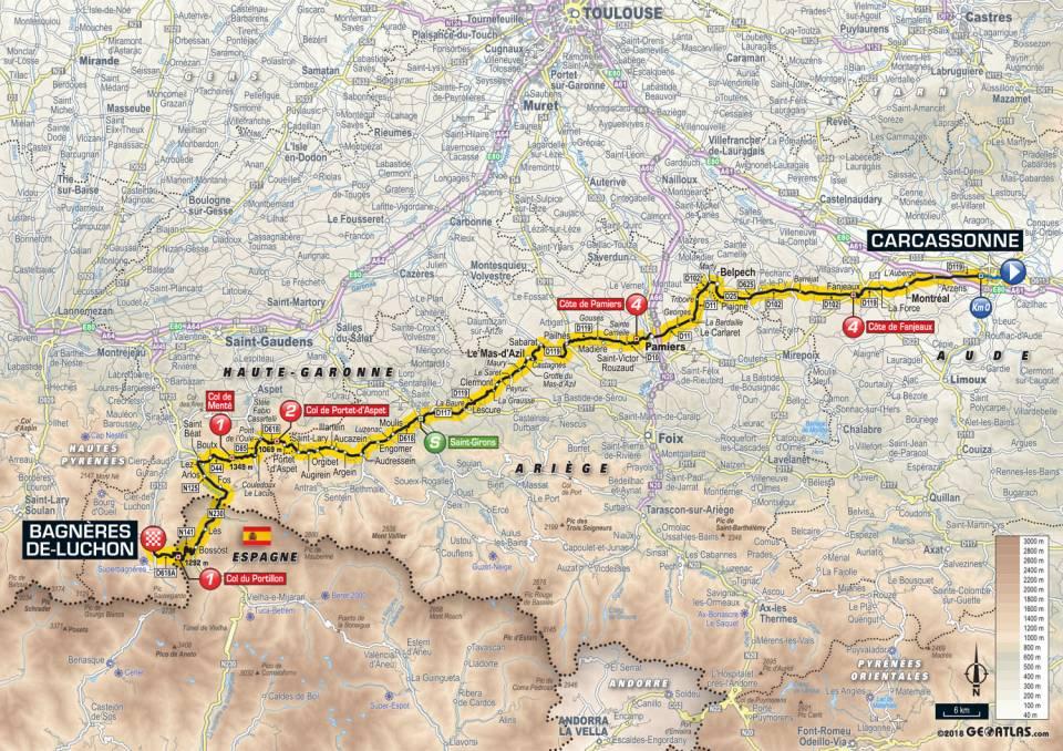 parcours etape 16 tour de france 2018