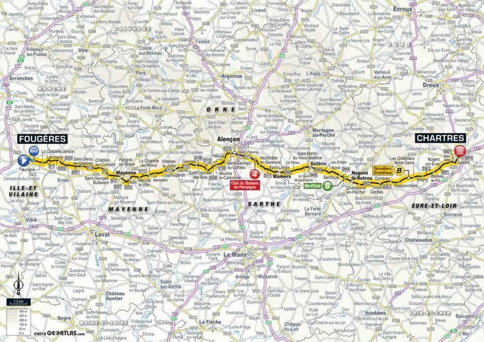 parcours etape 7 tour de france 2018