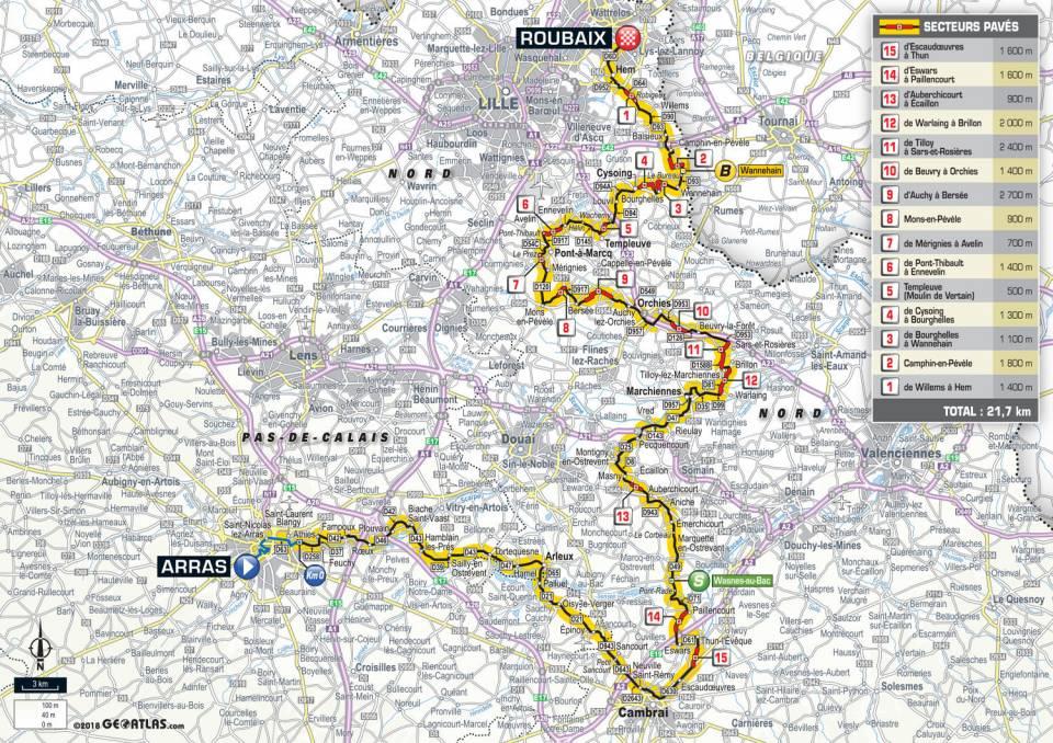 parcours etape 9 tour de france 2018