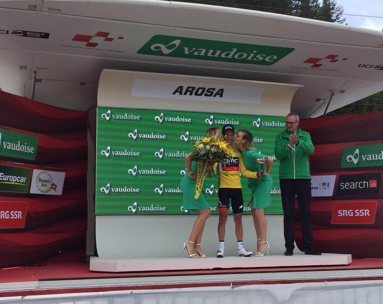 Quintana s'impose en solitaire, Porte conserve le maillot jaune — Tour de Suisse