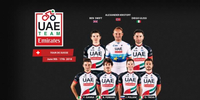 Tour de Suisse compo UAE Team Emirates