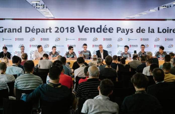 Tony Gallopin au départ du Tour de France 2018