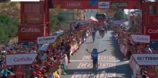 Alejandro Valverde vainqueur de la 2e étape