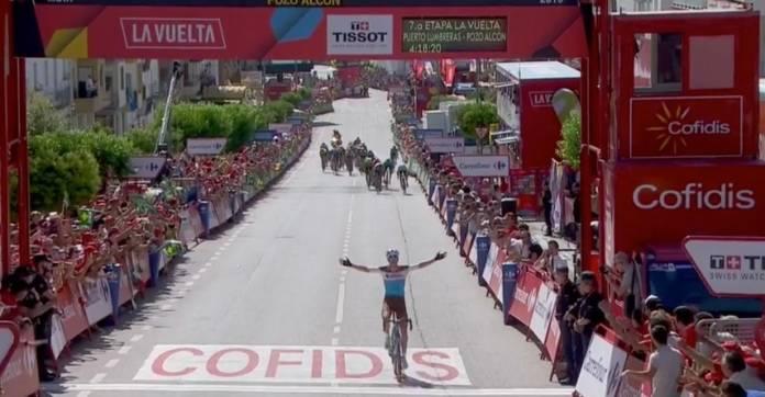 Tony Gallopin lauréat de la 7e étape du Tour d'Espagne 2018