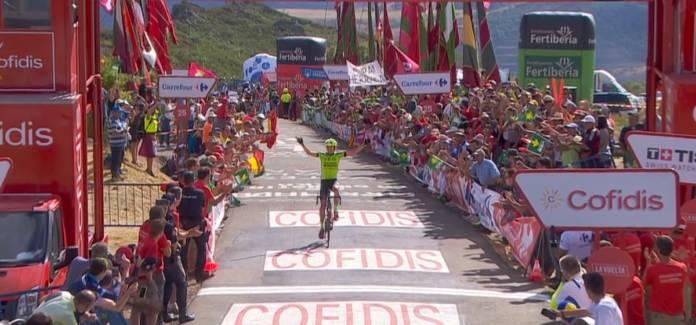 Oscar Rodriguez gagne s apremière étape en Grand Tour
