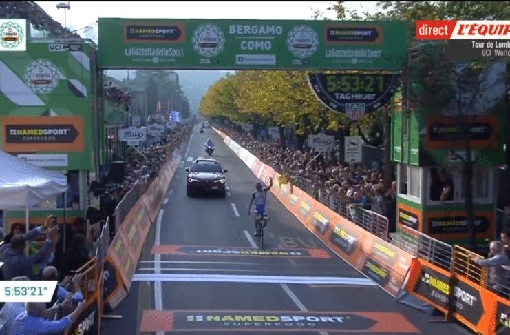 Thibaut Pinot bat enfin Vincenzo Nibali sur le Tour de Lombardie