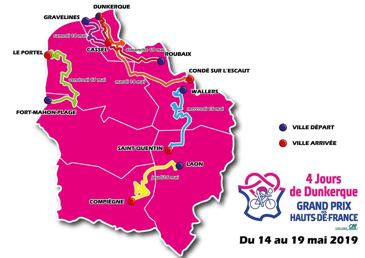 4 jours de dunkerque 2020 carte 4 Jours de Dunkerque : le parcours de la 65e édition