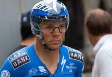 Jonathan Cantwell avec les couleurs de Saxo Tinkoff en 2012 sur le Dauphiné
