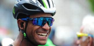 Natnael Barhane lors du Dauphiné 2017