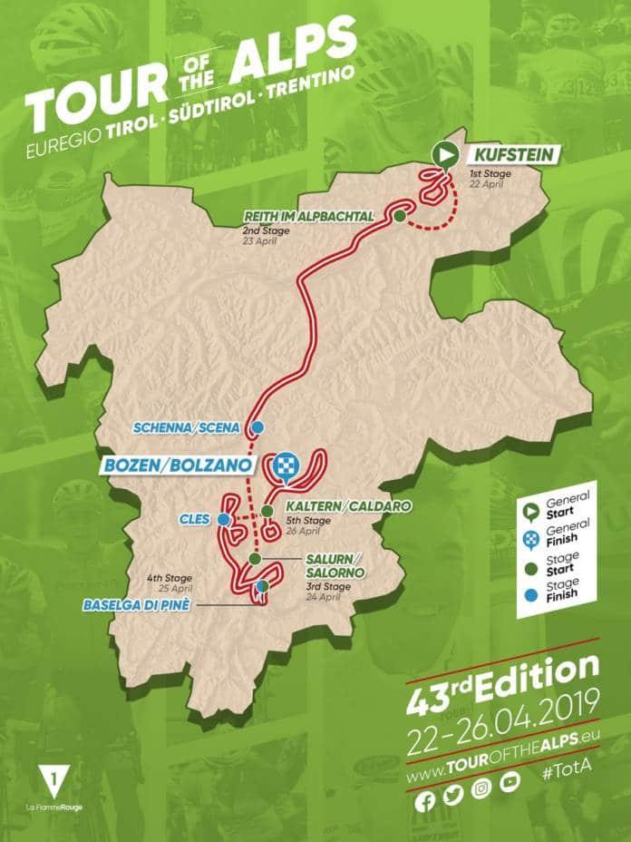 Tour des Alpes 2019 parcours dévoilé