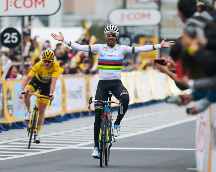 Alejandro Valverde a signé sa première victoire en tant que champion du monde.