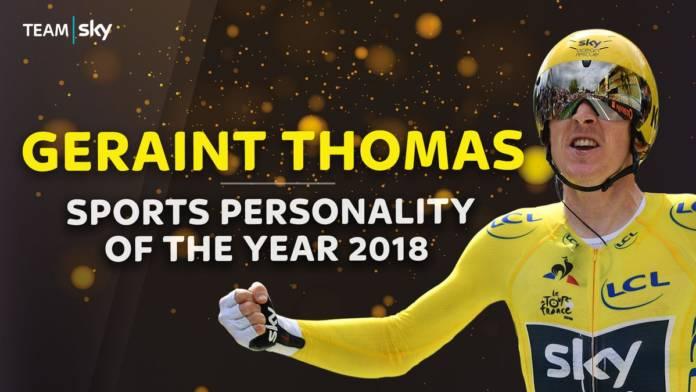 Geraint Thomas personnalité britannique de l'année