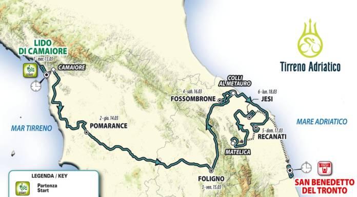 Tirreno-Adriatico 2019 vallonné mais pas montagneux