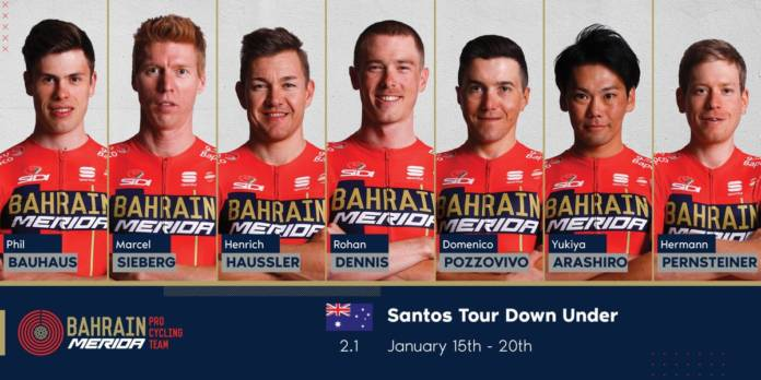 Tour Down Under 2019 compo Bahrain-Merida