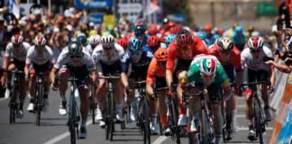 Elia Viviani au départ du Tour Down Under