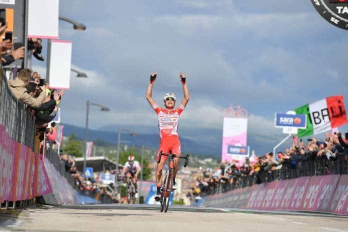 Valerio Conti s'empare du maillot rose à l'arrivée de la 6ème étape du Tour d'Italie.