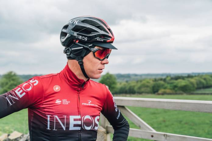 Chris Froome en difficulté