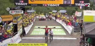 Dylan Teuns gane sa première étape sur le Tour de France