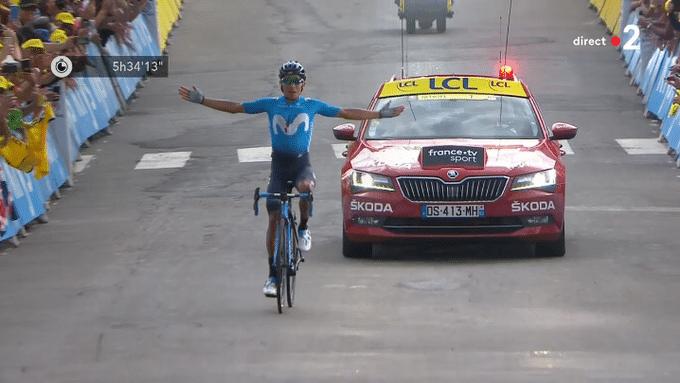 Nairo Quintana gagne une étape comme l'an dernier