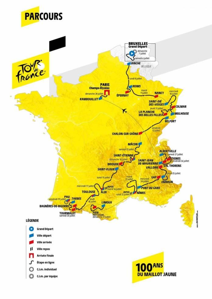 Tour de France 2019 parcours et favoris