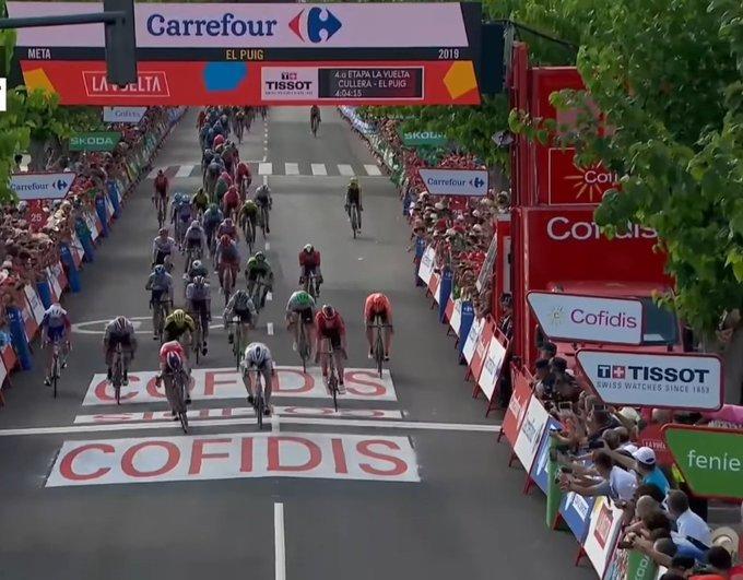 Fabio Jakobsen vainqueur de la 4e étape