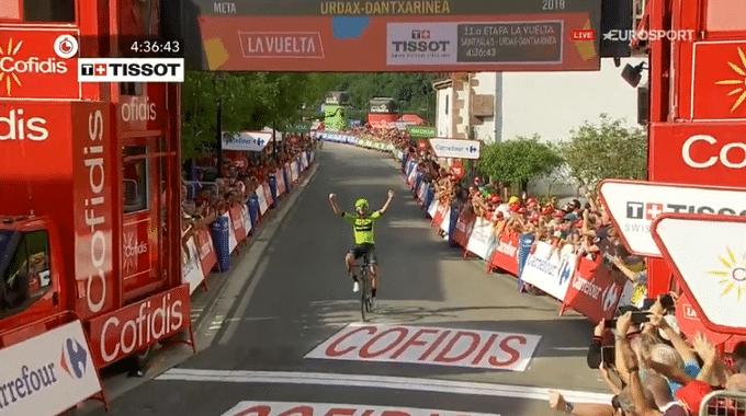 Mikel Iturria peut célébrer son premier succès