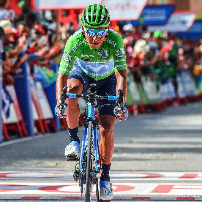 Nairo Quintana (Movistar) se replace sur le Tour d'Espagne
