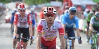 Nicolas Edet (Cofidis) sort du Top 10 du Tour d'Espagne