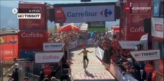 Sepp Kuss vainqueur de la 15e étape