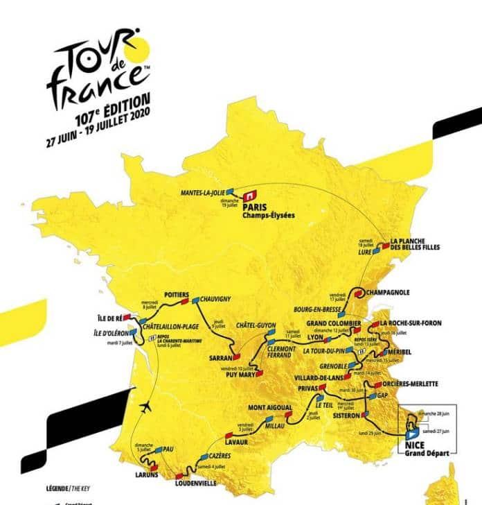 Parcours complet du Tour de France 2020