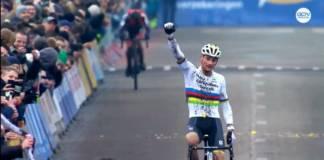 Mathieu van der Poel premier du cyclo-cross de Loenhout