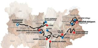 Les 8 étapes du parcours du Critérium du Dauphiné 2020.