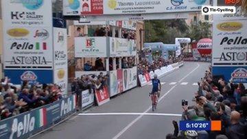 Giulio Ciccone vainqueur du Trofeo Laigueglia