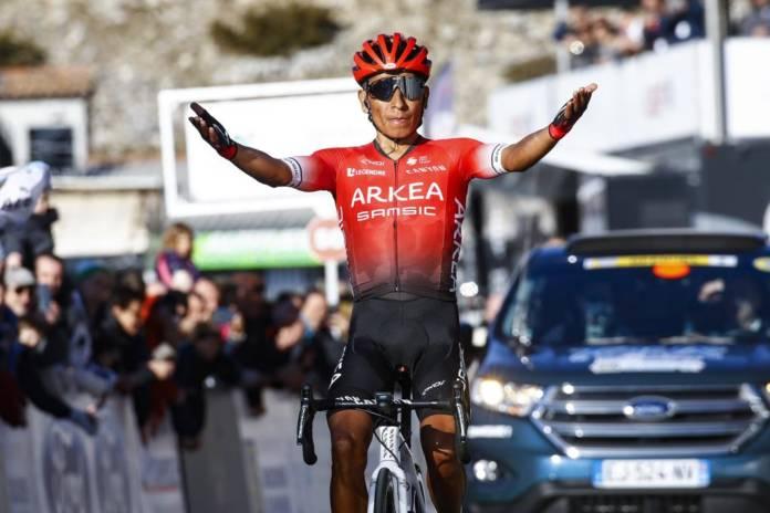 Nairo Quintana victorieux au Col d'Eze