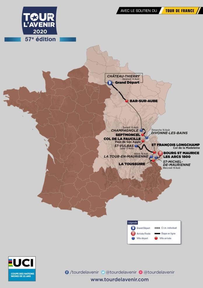 Tour de l'Avenir 2020 parcours complet sur six jours