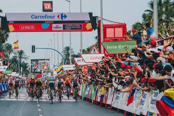 Vuelta 2020 passerapar Puebla de Sanabria et Salamanque