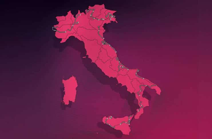 Giro 2020 avec un nouveau parcours