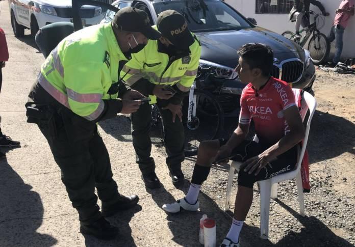 Nairo Quintana renversé à l'entraînement