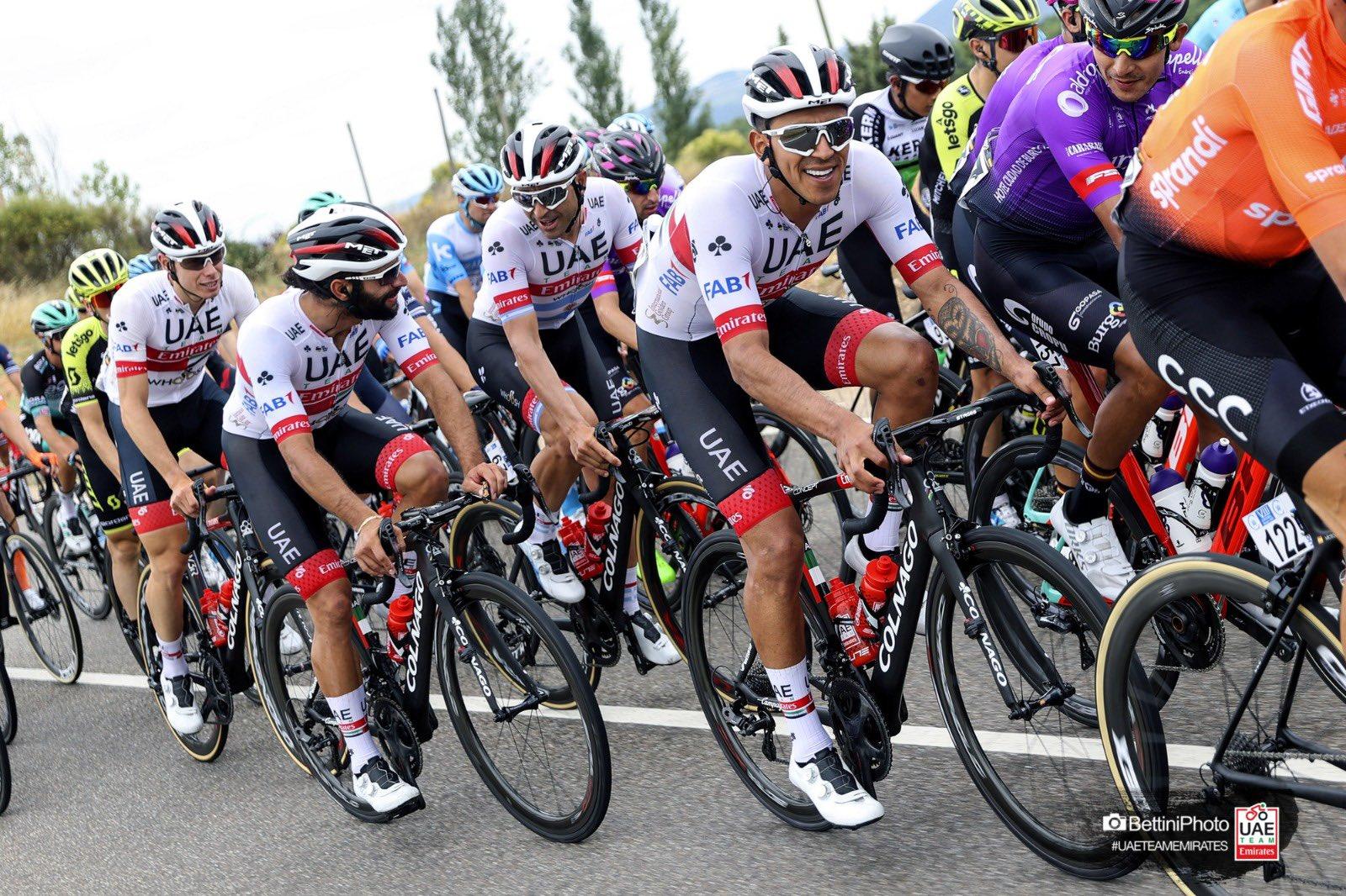 Tour de Burgos continue sans trois coureurs d'UAE Team Emirates