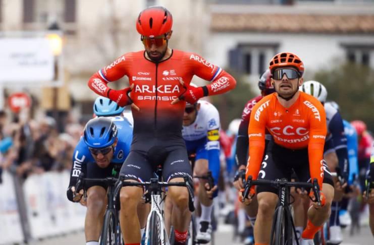 Nacer Bouhanni leader Arkéa-Samsic Milan-San Remo 2020