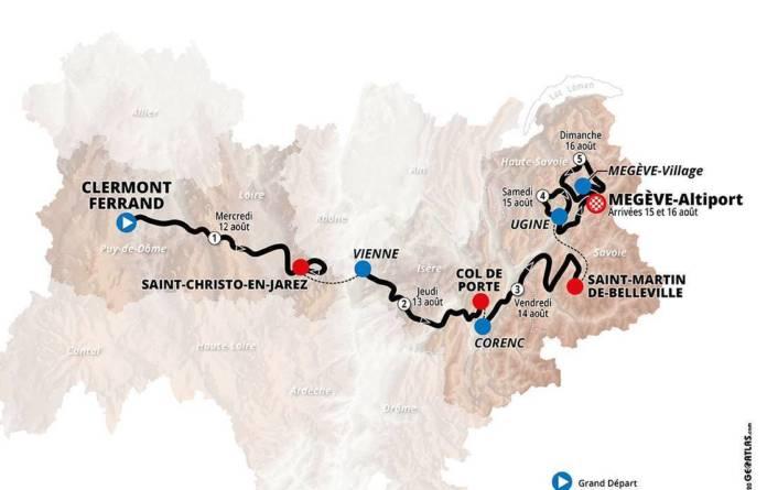 Parcours et favoris du Critérium du Dauphiné 2020