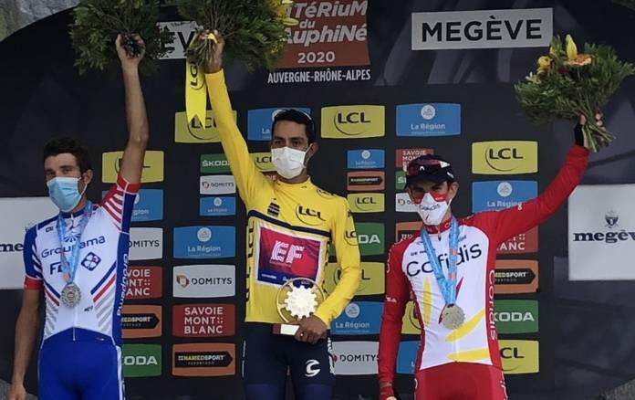 Daniel Martinez a remporté le Critérium du Dauphiné devant Thibaut Pinot et Guillaume Martin