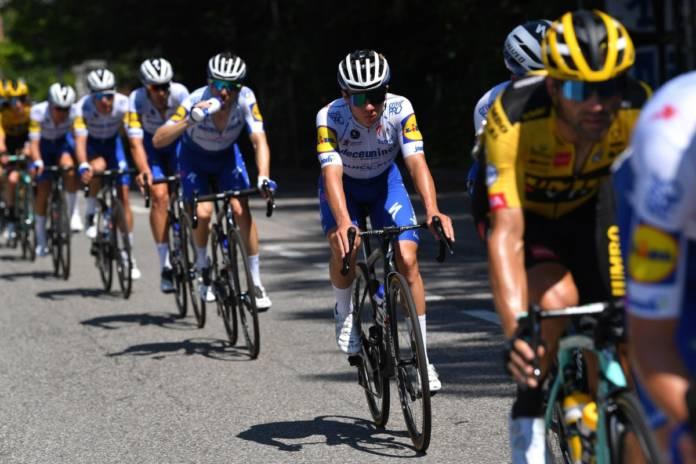 Remco Evenepoel touché après sa chute au Tour de Lombardie