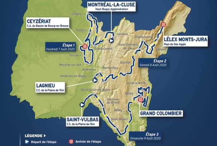 Parcours du Tour de l'Ain 2020