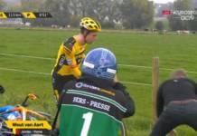 Wout van Aert est tombé sur le Tour des Flandres 2020 !